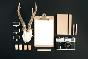 Clipboard and hipster stuff