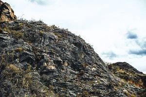 Craggy flank of mountain