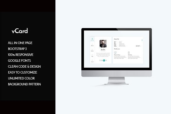 Vcard Cv Personal Resume Html Website Templates Creative Market
