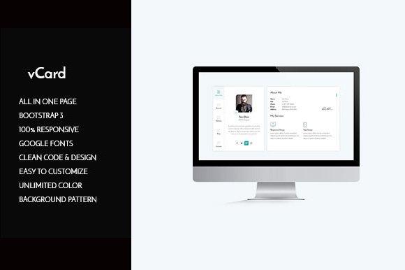 vcard cv personal resume html websites