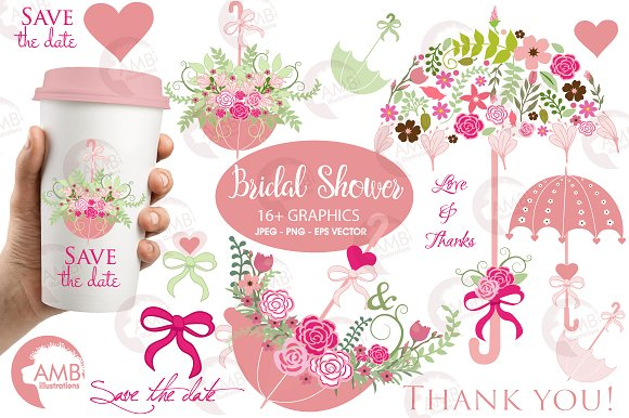 Bridal Shower Wedding Clipart 871