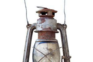 Old portable kerosene lantern