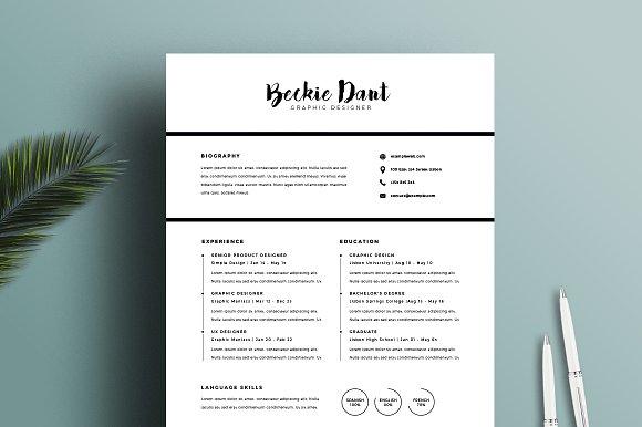 resume template 2 pages resumes - Resume Template Pages
