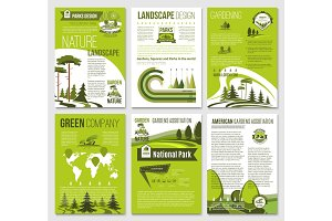 Vector brochure for green nature eco company