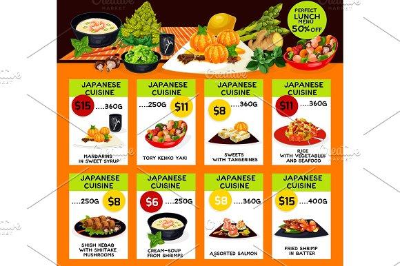 Tangerine Japanese Restaurant Menu