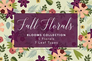 Fall Floral Illustration Set