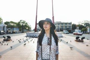 Solo woman traveler