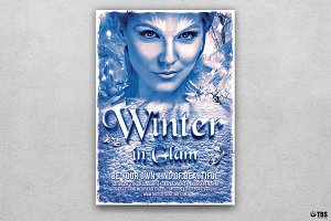 Winter Glam Flyer Template V2