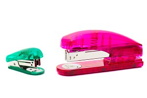 The big and small glass staplers