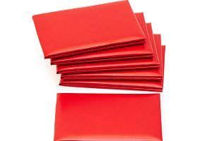 Red leather covers