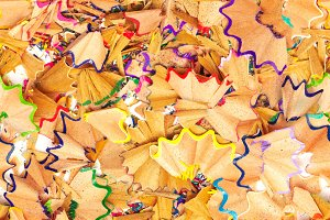 colorful pencil shavings