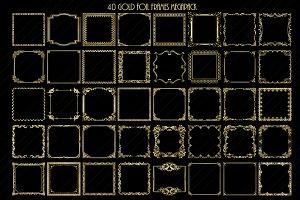 SALE$4 Gold Foil Frames ClipArt