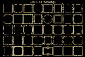 Gold Foil Frames ClipArt