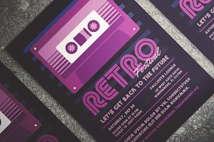 Retro Music Festival Flyer
