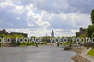 Narva Herman castle, Ivangorod fortress on river