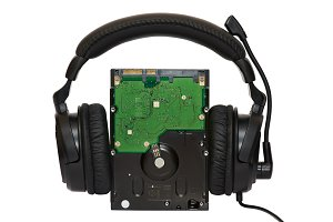 HDD with headphones