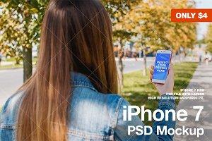 iPhone 7 Street Mockup