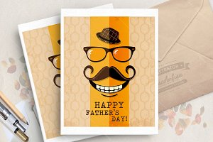 Father day. Greeting vector card