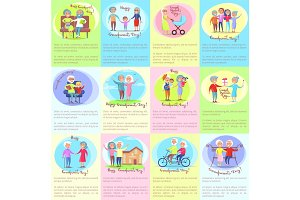 Happy Grandparents Day Senior Couples and Children