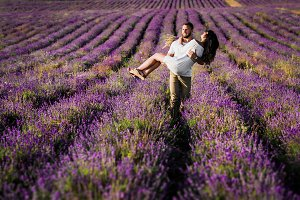 A couple in love and lavender