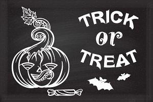 Trick or treat! Halloween decoration