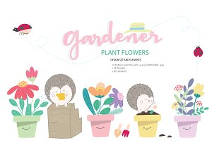 Cute flower DESIGN SET