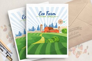 Farm land. Eco organic food