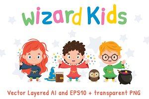 Wizard Kids - Children Clipart