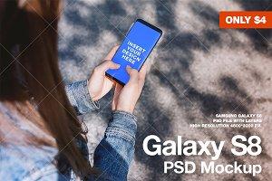 New Modern Galaxy S8 Street Mockup