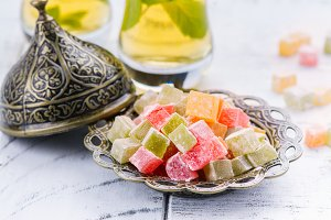 Traditional eastern dessert rahat lokum