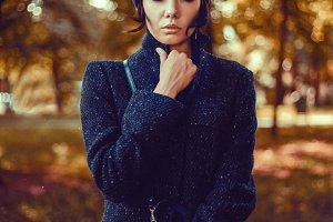 Beauty women autumn portrait