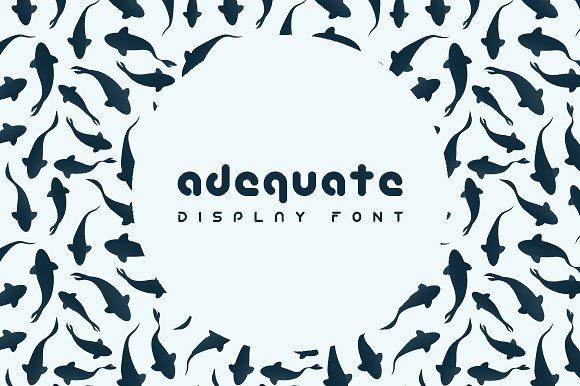 Adequate Font - Display