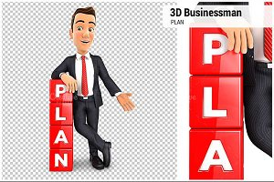 3D Businessman Plan