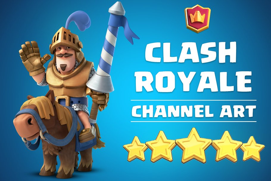 Clash Royale Channel Art Youtube Templates Creative Market