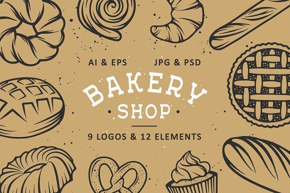 Set of bakery logos and elements ~ Logo Templates ~ Creative Market