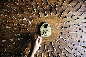 Keys on the table