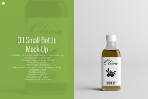 Oil Small Bottle Mock-Up