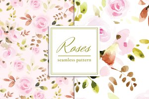 Tender Roses Seamless Pattern