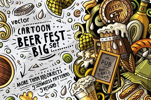 Beer Fest Cartoon Doodle Big Pack