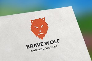Brave Wolf Logo