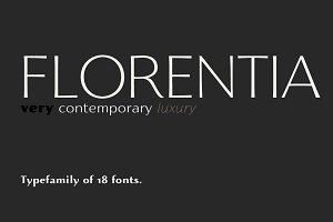 Florentia - 18 fonts
