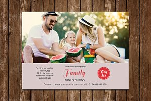 Family mini session template V617