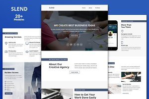 Slend Email Template + Builder