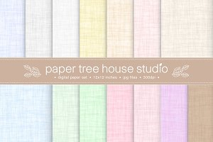 Natural Linen Backgrounds / Textures