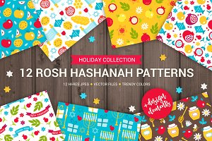 12 Rosh Hashanah Patterns + Bonus