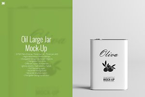 Oil Large Jar Mock-Up