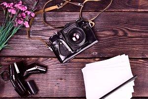 Old vintage film camera
