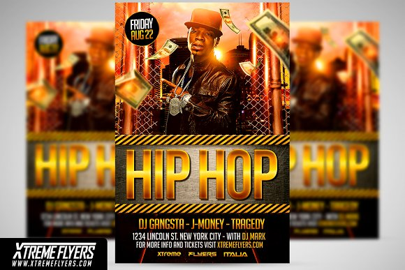 Hip Hop Flyer Template Flyer Templates Creative Market