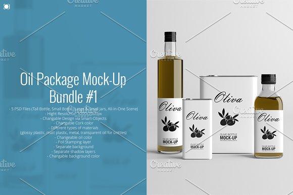 Download [-50%] Oil Package Mock-Up Bundle #1