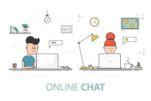 Online chat.